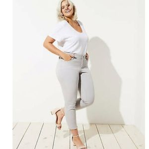 NWT Loft plus frayed skinny crop jeans